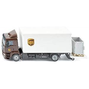 siku 1997, MAN Vrachtwagen met laadbak en laadklep, 1:50, metaal/kunststof, UPS-ontwerp, beweegbare achterklep, incl. accessoires