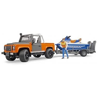 Bruder 02599 Land Rover Defender Pick Up met aanhanger