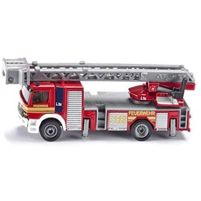 siku 1841, Brandweerwagen, 1:87, metaal/kunststof, rood, beweegbare ladder