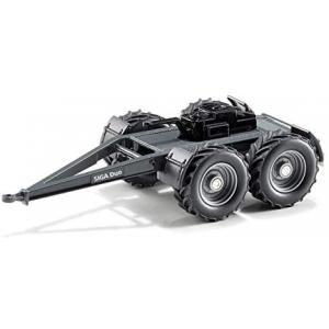 siku 2887, Dolly SIGA Duo, 1:32, metaal/kunststof, zwart, compatibel met Siku tractoren