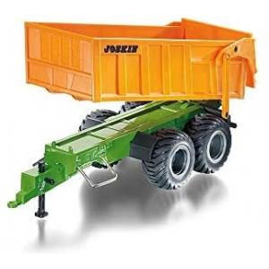 Siku 6780, Dubbel-as-aanhangwagen, 1:32, op afstand bestuurbaar, voor Siku Control-voertuigen met aanhanger-trekhaak, metaal/kunststof, oranje