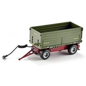 siku 6781, Tweezijdige kiep-aanhangwagen, 1:32, op afstand bestuurbaar, voor SIKU Control-voertuigen met aanhanger-trekhaak, metaal/kunststof, groen