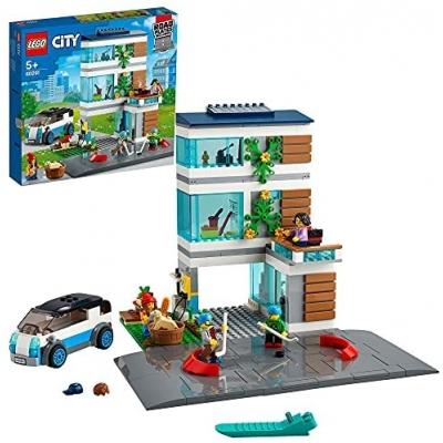 LEGO 60291 City Familiehuis, Modern Poppenhuis Bouwset met Poppetjes,