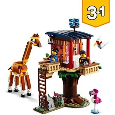LEGO 31116 Creator 3in1 Safari Boomhut, Catamaran en Dubbeldekker, Speelgoed Bouwset voor Kinderen van 7 Jaar en Ouder
