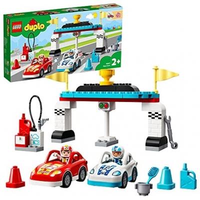 LEGO 10947 DUPLO Town Racewagens Speelgoed Auto voor Kinderen van 2 + Jaar Oud