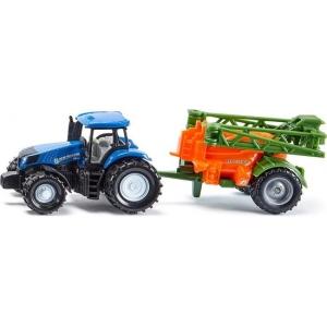 SIKU 1668 Tractor met Veldspuit