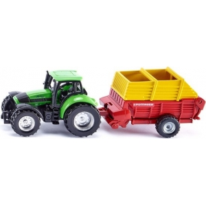 SIKU Tractor met Pöttinger Opraapwagen