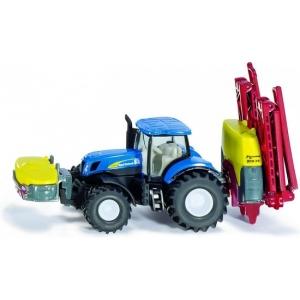SIKU 1799 Tractor New Holland met Kverneland Sproeier