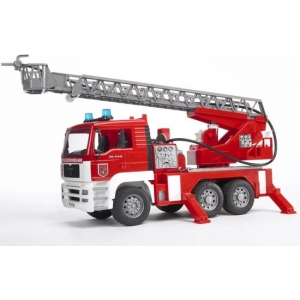 MAN TGA brandweer ladderwagen waterpomp Bruder (02771)