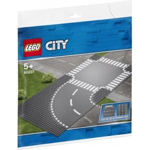 Bouwplaten LEGO City Bocht en Kruising - 60237