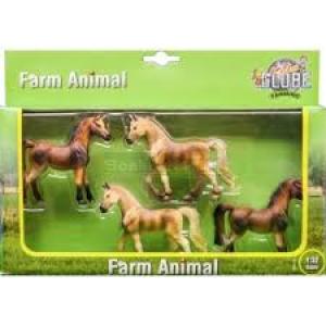 570013 Kids Globe Paardenset -  Van kunststof