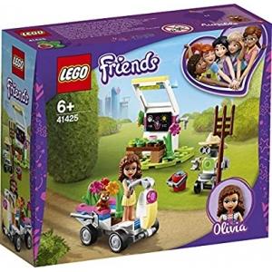 LEGO Friends Olivia's bloementuin 41425 set met minipoppetjes, bevat tuingereedschap en een speelgoedvoertuig (92 onderdelen)