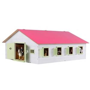 Paardenstal Kids Globe met 7 boxen: schaal 1:24 (610189)