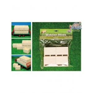 610022 Kids Globe 610022 - Houten palletboxen/aardappelkisten ;4 stuks (1:16)