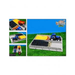610117 Kids Globe Sleufsilo, betonlook 38x46x5cm -  | Van hout | 460x380x50 mm